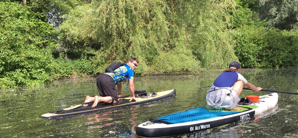Stand Up Paddleboard Sheltered Water Coach