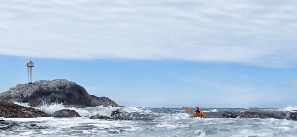Sea Kayaker negotiating a tidal race